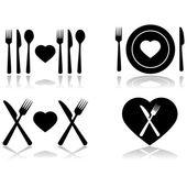 Dinner date — Stock Vector