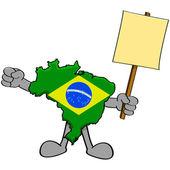 Brazil protest — Stock Vector