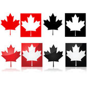 Canadian maple leaf — Stock Vector