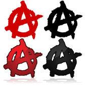 Anarchy symbol — Stock Vector