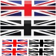 Union Jack styles — Stock Vector