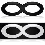 Infinity symbol — Stock Vector