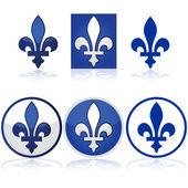 Quebec fleur-de-lys — Stock Vector
