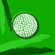 Stylized golf ball — Stock Vector #40251173