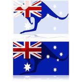 Australian kangaroo — Stock Vector