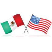 Mexico and the United State — Stock Vector