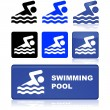 Swimming pool sign — Stock Vector