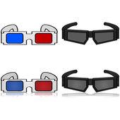3D Glasses — Stock vektor