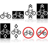 Bicycle signs — Stock Vector