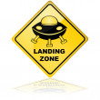 Spaceship landing zone — Stock Vector #41229913