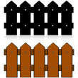 Stock Vector: Picket fence