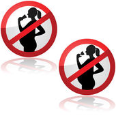 No drinks for pregnant women — Stockvector