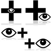 Eye doctor — Stock Vector
