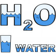 Stock Vector: Water H2O