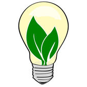 Environmental light bulb — Vettoriale Stock