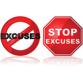 No Excuses — Stock Vector