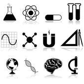 Icônes de la science — Vecteur