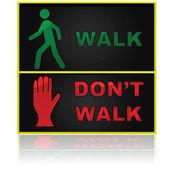 Walk and don't walk — Stock Vector