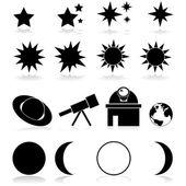 Astronomy icons — Stock Vector