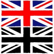 Painted Union Jack — Stock Vector