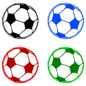 Painted soccer balls — Stock Vector