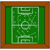 Soccer tactics — Stock Vector