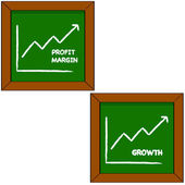 Profit and growth — Stock Vector