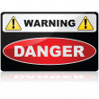 Danger sign — Stock Vector #43003539