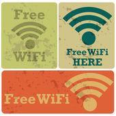 Free wifi stickers — Vetorial Stock