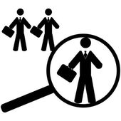 Searching for an employee — Stock Vector