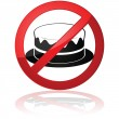 No cakes allowed — Stock Vector