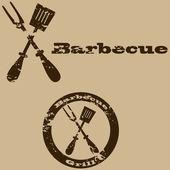 Vintage barbecue — Stock Vector