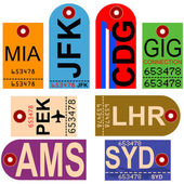 Retro airplane tags — Stock Vector