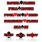 Poker expressions — Stock Vector