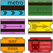 Vintage subway tickets — Stock Vector