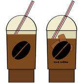 Iced coffee — Stock Vector