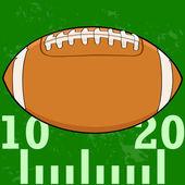 Fútbol en campo — Vector de stock
