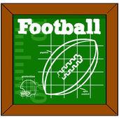урок футбола — Cтоковый вектор