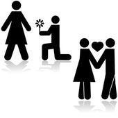 Couple in love — Stock Vector