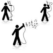 Singing — Stock Vector