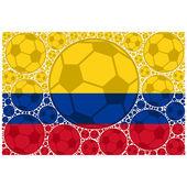 Balones de fútbol de colombia — Vector de stock
