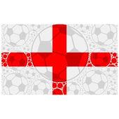 England soccer balls — Stock Vector