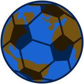 Planet soccer — Stock Vector