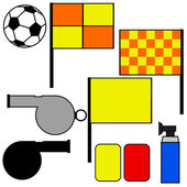 Soccer referee tools — Stock Vector