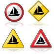 Sailboat signs — Stock Vector #47079689