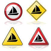 Sailboat signs — Stock Vector
