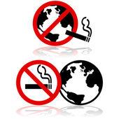 Global nicht rauchen — Stockvektor