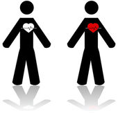 Battito cardiaco — Vettoriale Stock