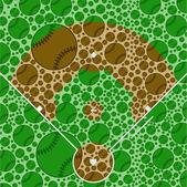 Baseball field — Stock Vector