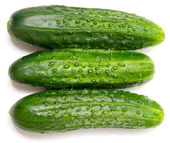 Three cucumbers — Stock Photo